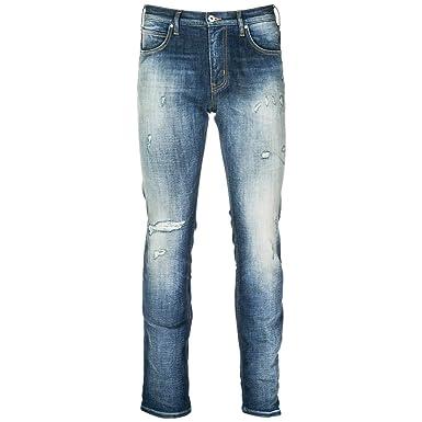 c9bd3cbbe8b06 Emporio Armani Vaqueros Jeans Denim de Hombre Pantalones Nuevo BLU EU 32  (UK 32) 6Z1J451D1CZ0941  Amazon.es  Ropa y accesorios
