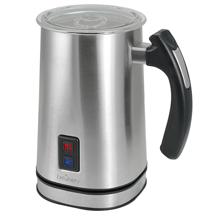 Brewberry Stainless Steel Premium Wireless Automatic Milk Frother and Heater