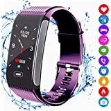 Montre Connectée, Tracker dActivité Fitness Bracelet avec Podomètre Moniteur de Fréquence Cardiaque IP67