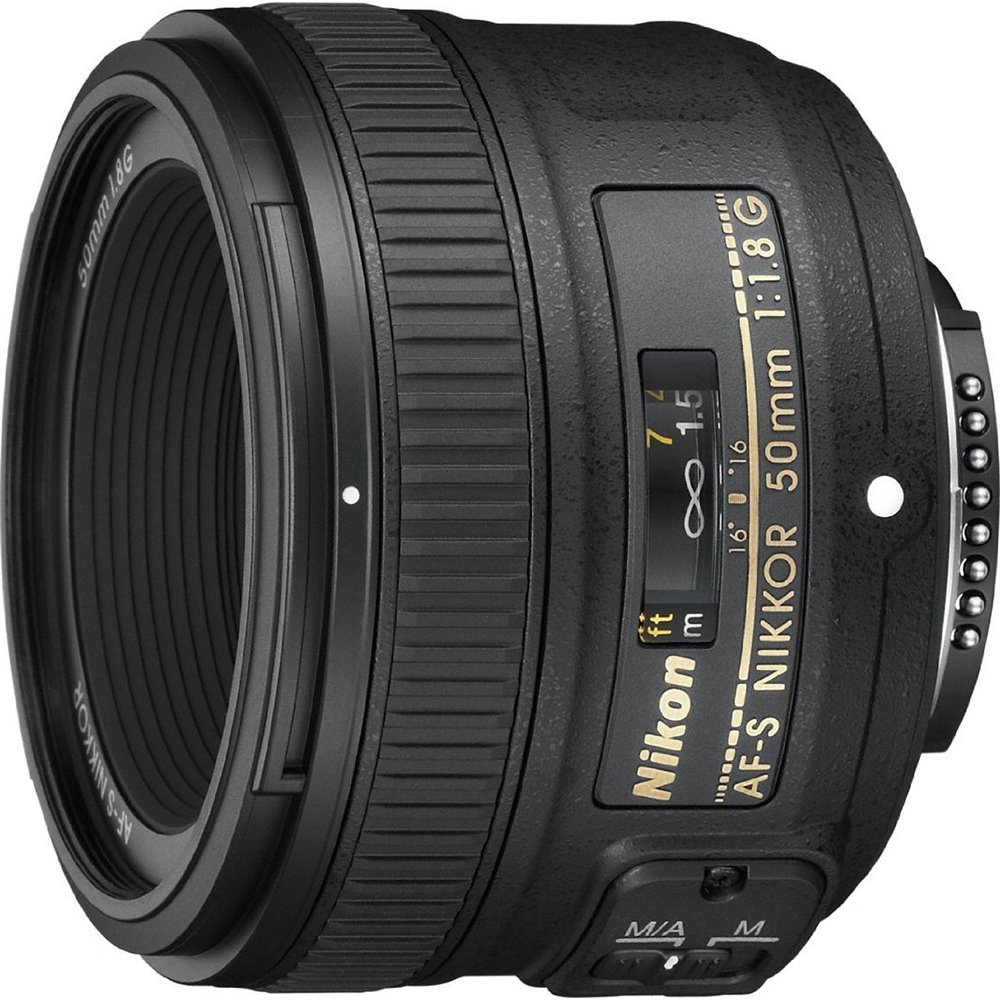 Nikon AF-S FX NIKKOR 50mm f/1.8G Lens with Auto Focus for Nikon DSLR Cameras by Nikon