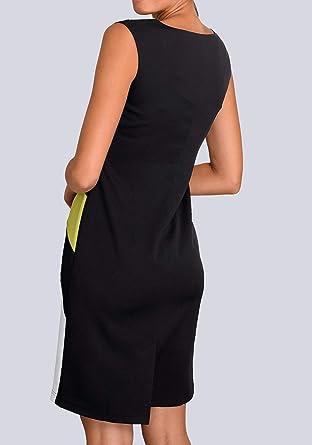 AM markowa sukienka czarno-biała limonkowa rozm. 42 0820125245 - sukienka etui 42: Odzież