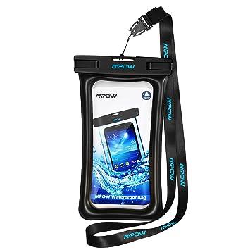 Mpow Funda Impermeable Móvil, Duradero y Resistente, Funda Acuática Movil, con Botón de Inicio, para iPhone XXS/XS MAX/X/8/8 Plus,Sumsung Galaxy ...