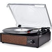 Record Player Turntable Wireless Portable LP Phonograph with Built in Stereo Speakers 3-Speed Belt-Drive Turntable Vinyl…