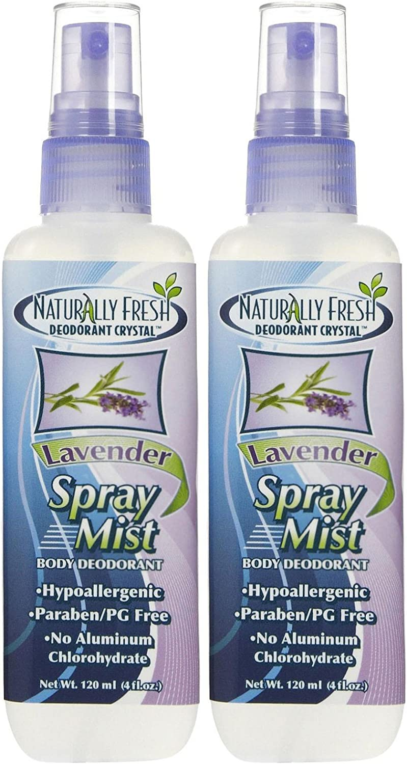 Naturally Fresh Spray Mist Body Deodorant-Lavender-4 oz, 2 pk