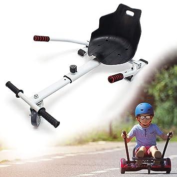 WilTec Asiento Kart Patinete eléctrico Blanco Hoverboard ...