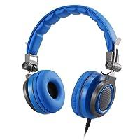 AGPTEK Casque Enfant Audio Filaire Anti-bruit HP01 Ecouteurs pour Enfants Pliable Casque de Protection Oreilles en ABS- Bleu