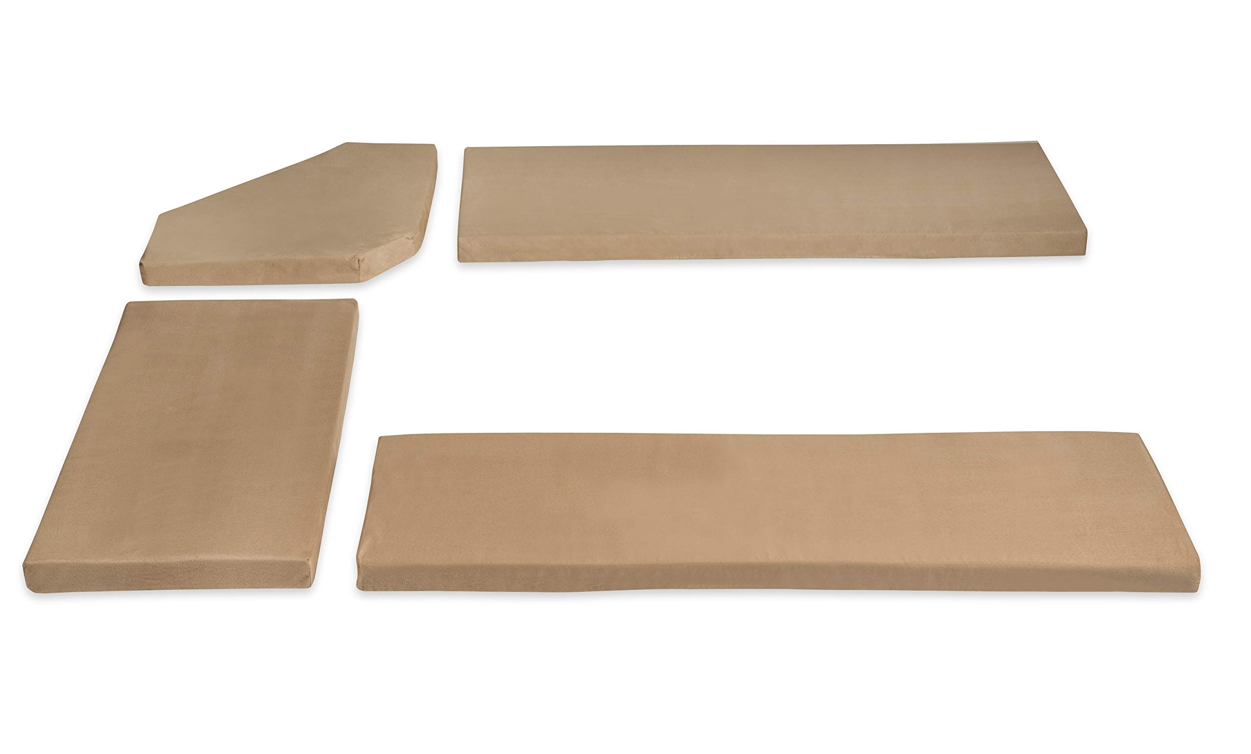 Linon 90375BGE-01-KD Henry Cushion Beige Microfiber Nook NOT Included Cusion Set