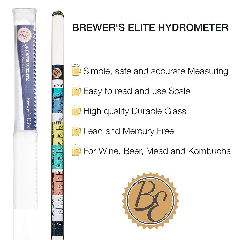 Amazon.com: Brewers Elite Hidrómetro para ...