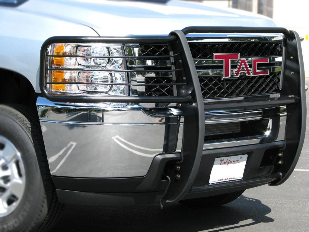 TAC Grill Guard fit 2007-2012 Chevy Avalanche 1500//2007-2014 Chevy Tahoe 1500 Excl. Hybrid Black Front Bumper Brush Nudge Push Bull Bar