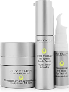 product image for Juice Beauty Stem Cellular Anti-Wrinkle Solutions Kit - Age Defying Daily Skincare Set with Facial Serum, Face Moisturizer and Eye Cream Treatment - Made with Organic Ingredients (3 Products)
