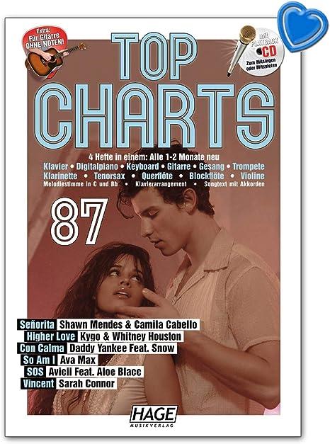 Top Charts 87 - Libro de canciones con CD, pinza para partituras ...