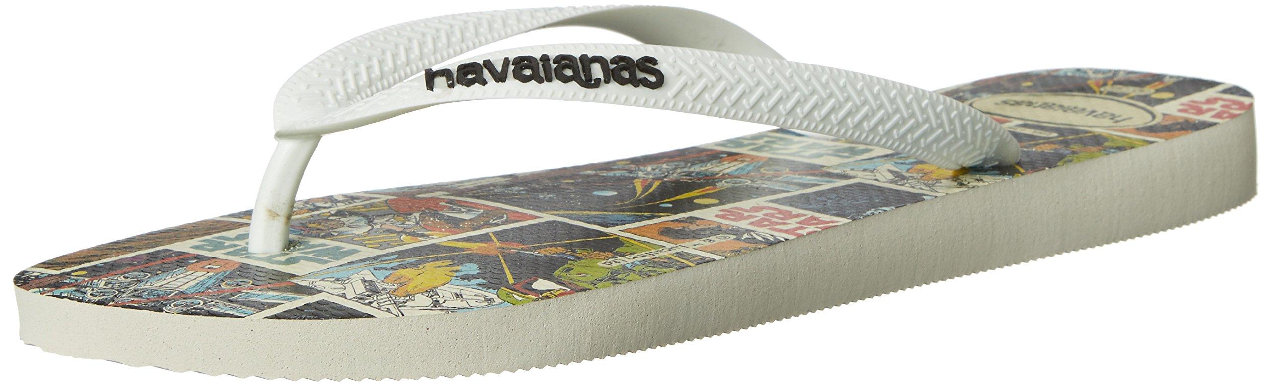 Havaianas Men's Flip Flop Sandals, Star Wars,White,43/44 BR (11/12 M US)