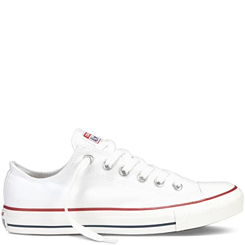 Converse Unisex Chuck Taylor All Star Low Top Optical White Sneakers – 10 D(M) US