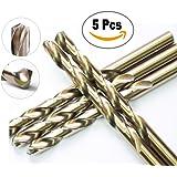 """10 Pcs Pack 1/8"""" Inch M35 HSS Cobalt Drill Bit Jobber Length Drill Bits Twist Drill Bits 135 Deg. Split Point Drilling Steel, Meteal, Iron."""