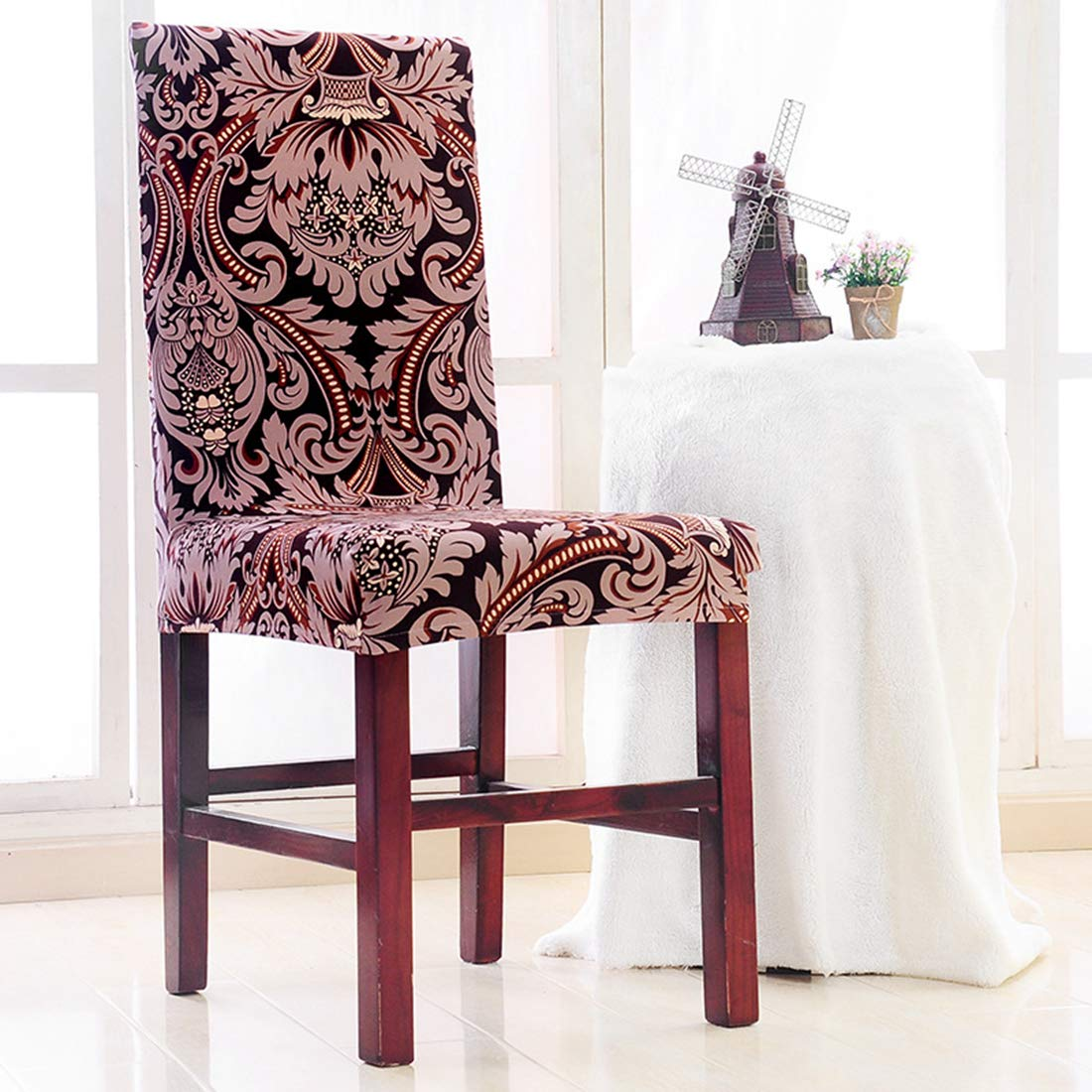Enjoyable Amazon Com Jonaro 6 Pcs Spandex Chair Cover Floral Pdpeps Interior Chair Design Pdpepsorg