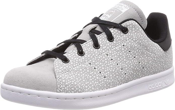adidas Stan Smith Sneakers Jungen Mädchen Unisex Kinder grau/schwarz Größe 36 bis 38 2/3