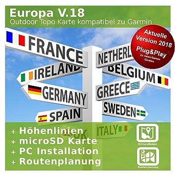 Carte Europe Pays Bas.L Europe V 18 Outdoor Carte Topo Europe Carte Topographique