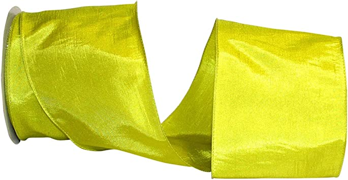 1-1//2 Inch X 25 Yards Chartreuse Reliant Ribbon 97895W-041-09J Katy May 2 Wired Edge Ribbon