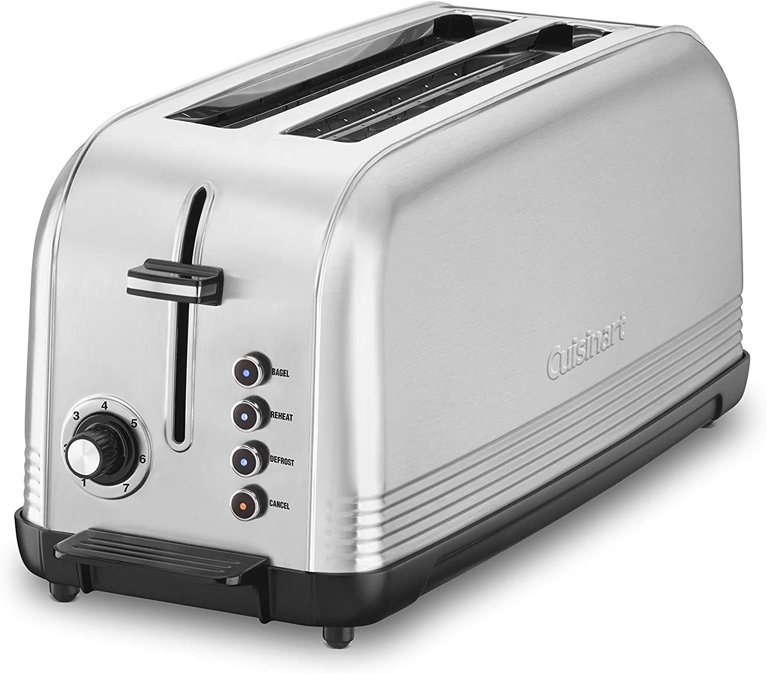 Cuisinart CPT-2500 Long Slot Toaster, Silver, 2-slice long slot