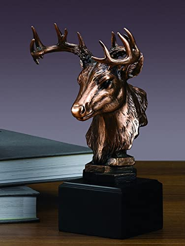 Whitetail Deer Head Statue
