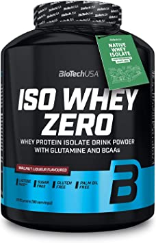 BioTech IsoWhey Zero Proteínas de Suero de Leche, Sabor Walnut Liqueur - 2270 gr
