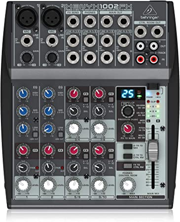 Behringer XENYX 1002FX Mesa de mezcla pasiva con efectos, 10 puertos