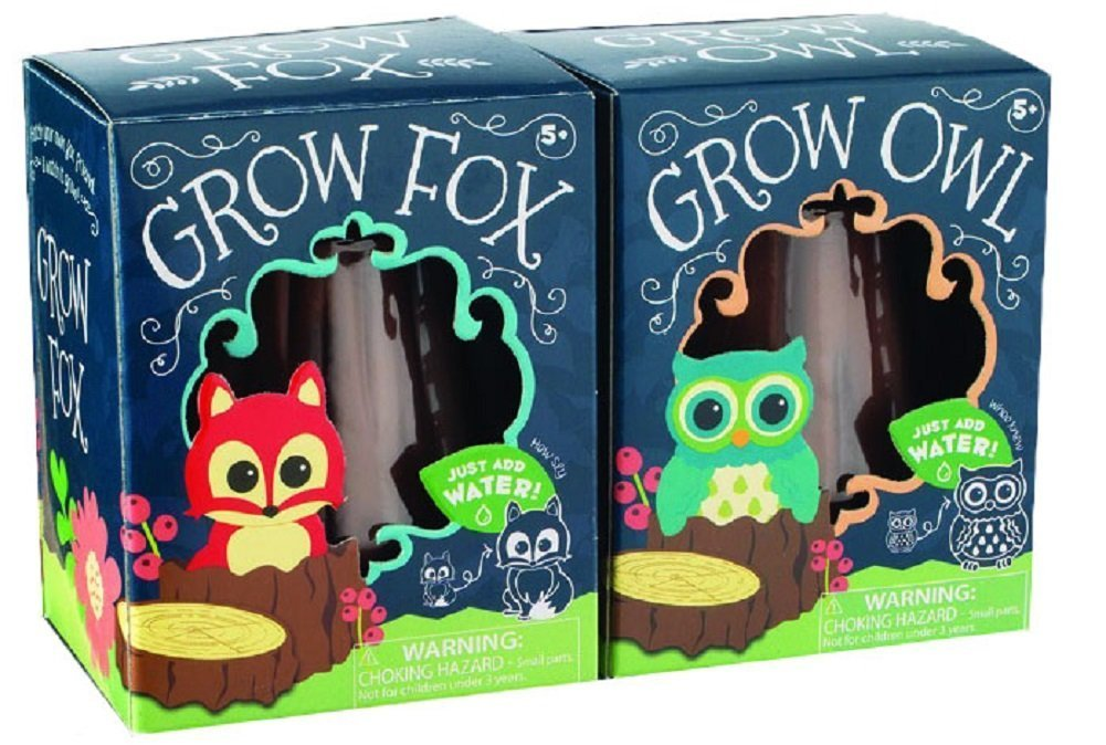 Toysmith Grow Fox Owl Set