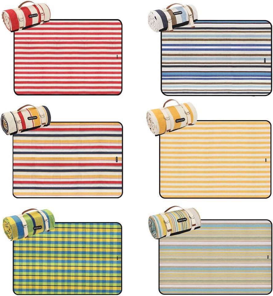 GOOD GAIN Picknickdecke faltbare Picknickdecke tragbar mit Trageriemen nasses Gras Stranddecke Wandern wasserdicht und sanddicht Party maschinenwaschbar f/ür Outdoor-Camping XL-gro/ße