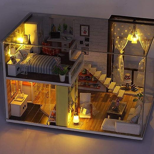 Funnyrunstore Simple City Room Doll House Miniatura DIY Dollhouse ...
