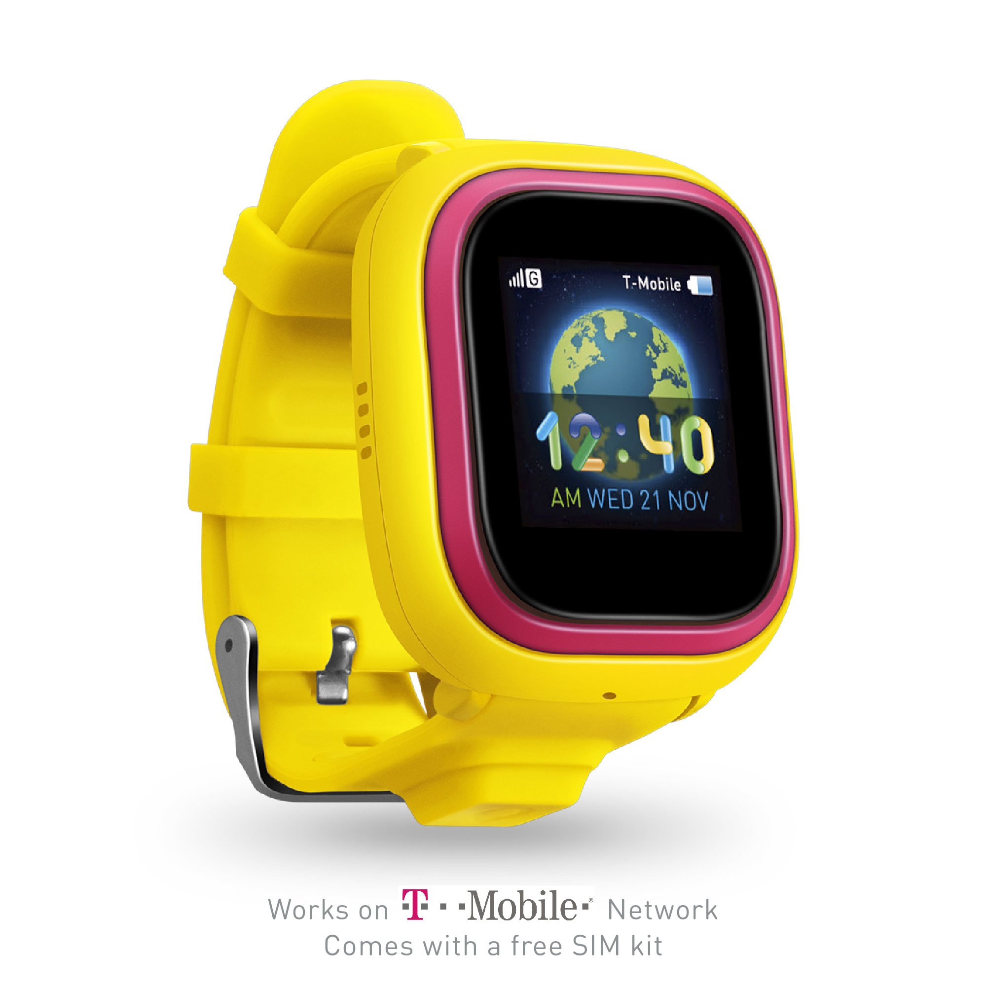 TickTalk 2 Touch Screen Kids Smart Watch, GPS Phone watch, Anti Lost GPS tracker with New App, Better Positioning Chip, Things To Do Reminder, Phone/Messaging FREE SIM KIT (Yellow) by TickTalk