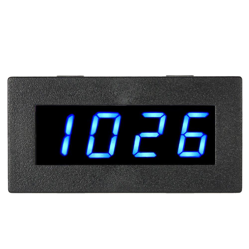 KKmoon 0,56 pouce Tachymètre Numérique de Haute Précision avec LED à 4 Chiffres, Compteur de Vitesse du Moteur de Voiture, Compte-tours RPM Mesure Testeur 5-9999R / M DC 8-15V--BLEU