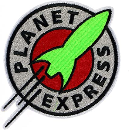 "3/"" Planet Express Logo Embroidered Iron On Patch futurama space ship USA"