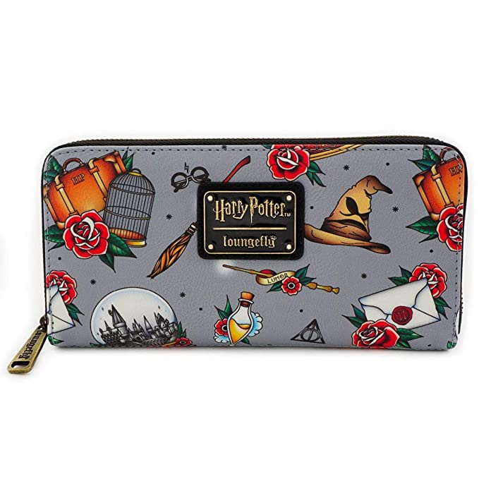 Amazon.com: Loungefly x Harry Potter Relics Tattoo Allover ...