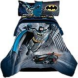 Reversible Batman, 4pc Twin Comforter & Sheet Set, featuring the Batmobile