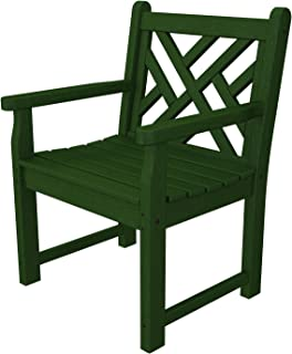 product image for POLYWOOD CDB24GR Chippendale Garden Arm Chair, Green