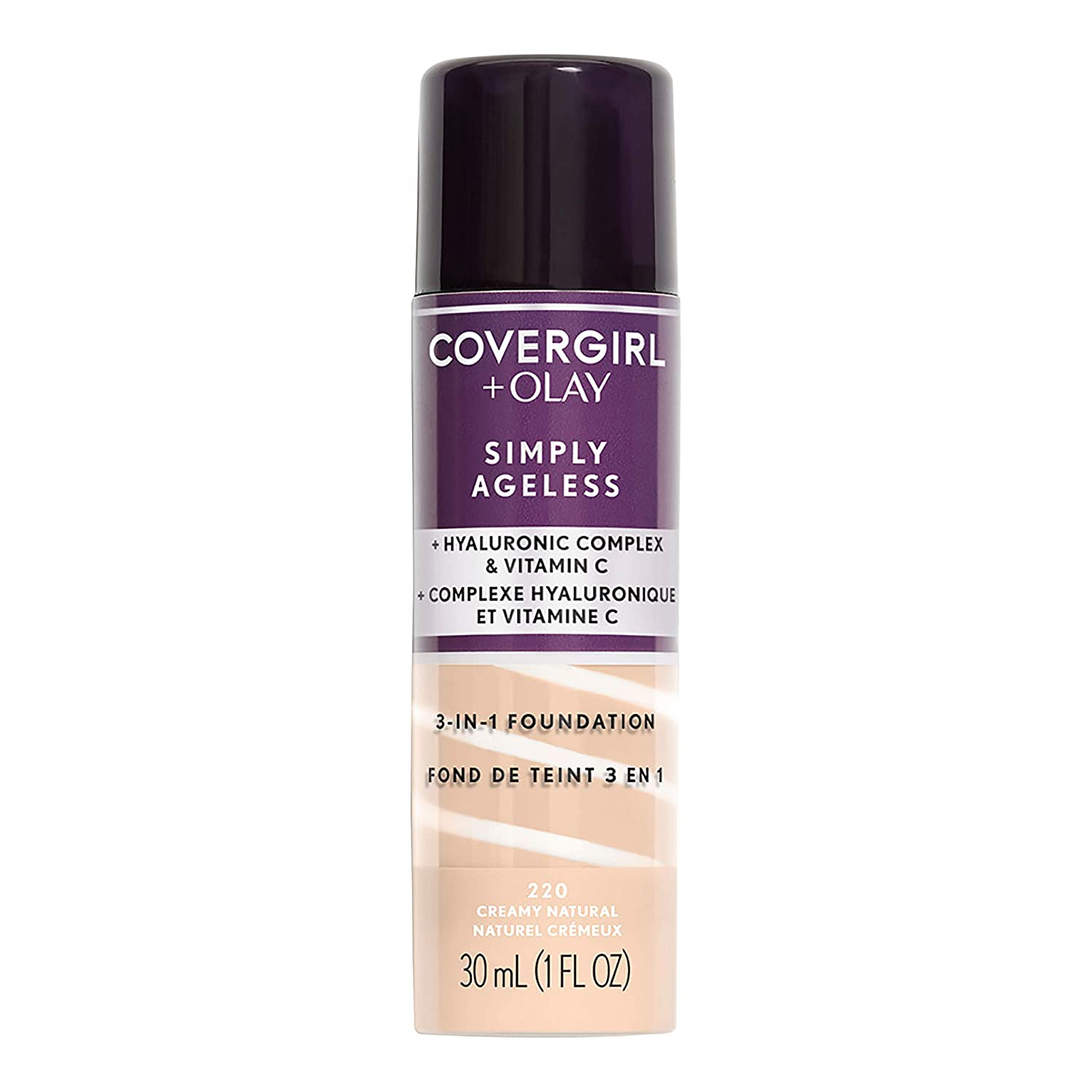 Covergirl & Olay Simply Ageless 3-in-1 Liquid Foundation, Creamy Natural : Beauty