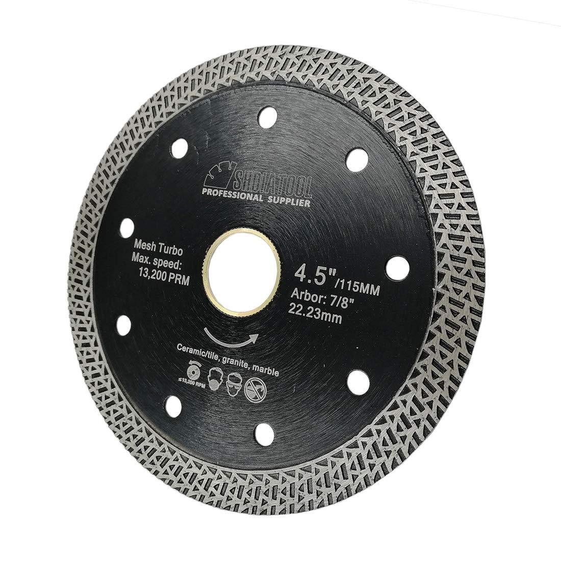Cuchilla de porcelana con malla Turbo Rim Segment Cutting Tile Ceramic Granite Marble SHDIATOOL Diamond