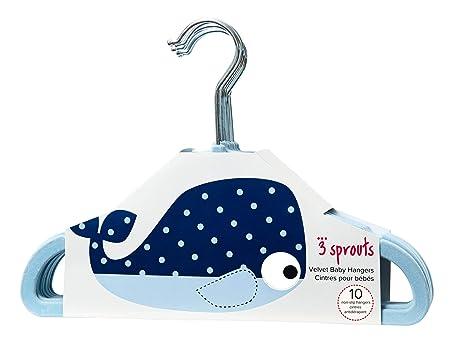 3 Sprouts Kleiderb/ügel Whale Blue