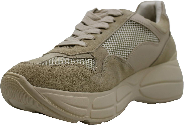 Steve Madden Women's Memory Sneaker Beige 1