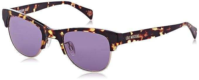 Womens Eye Sunglasses, Brown (Havana), 54 Moschino