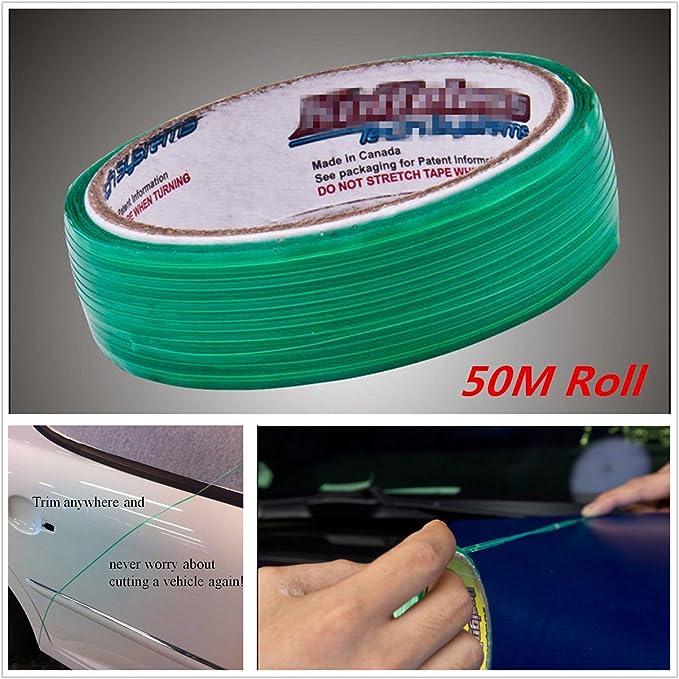 7c0f10c5bbceb 50M Roll (164 Ft) Knifeless Tape Finish Line Vinyl Wrap Cutting Tape ...