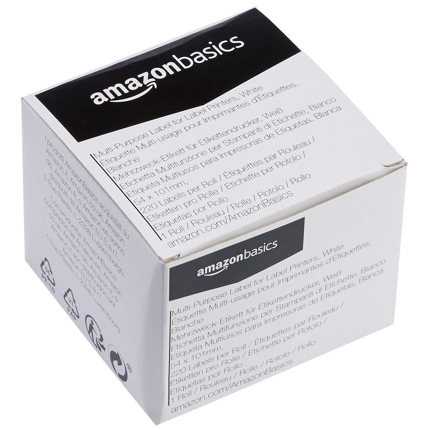 36 mm x 89 mm Mehrzweck-Etiketten f/ür Etikettendrucker Wei/ß 2 Rollen Basics 260  Etiketten pro Rolle