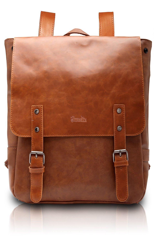 Zebella Pu Crazy Horse Leather-Like Vintage Women's Backpack School Bag