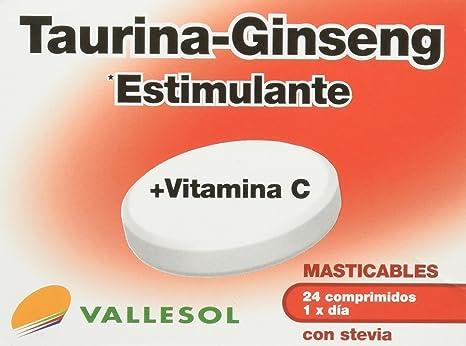 Vallesol Taurina, Ginseng y Vitamina C Tabletas Masticables - 24 cápsulas