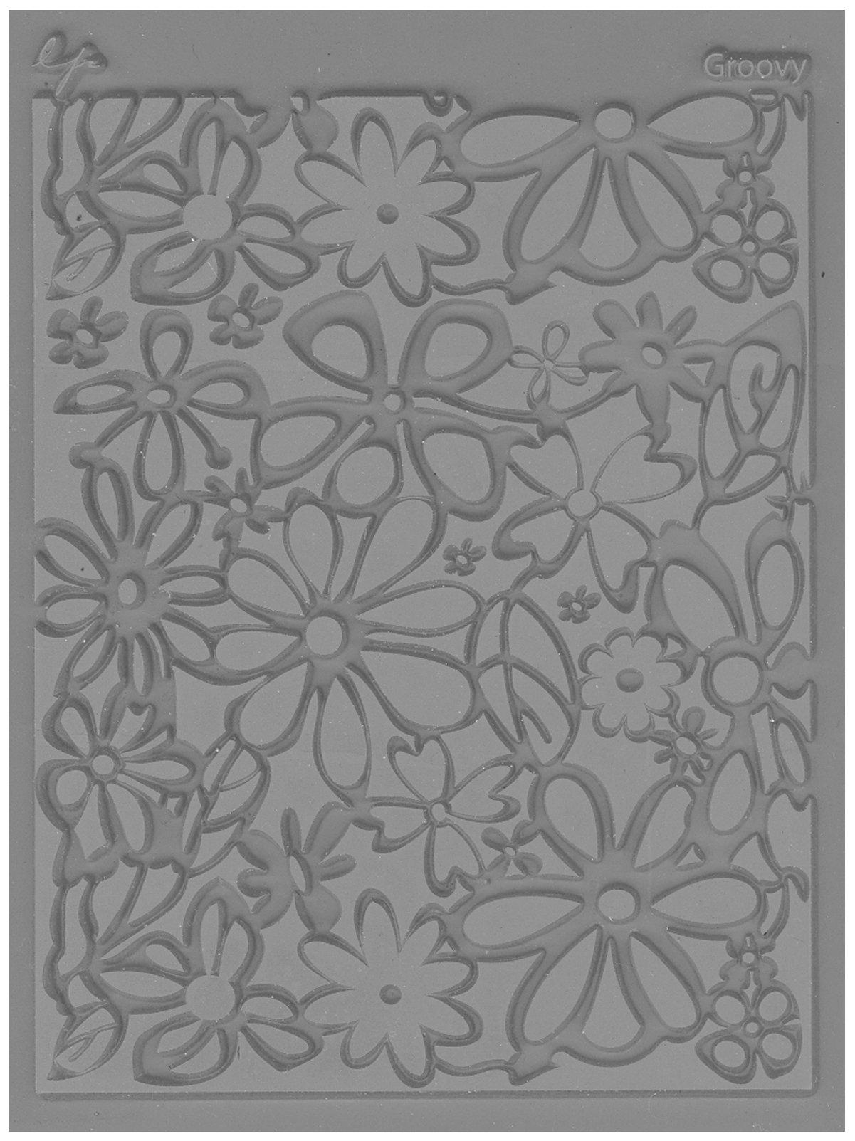 JHB International Inc Great Create Lisa Pavelka Individual Texture Stamp 4.25''X5.5'' 1/Pkg-Groovy