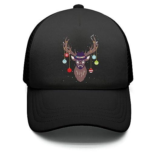 Kids  Christmas Balls elk Moose Head Baseball Cap Adjustable Strapback Dad  hat Casual d56693c8c84
