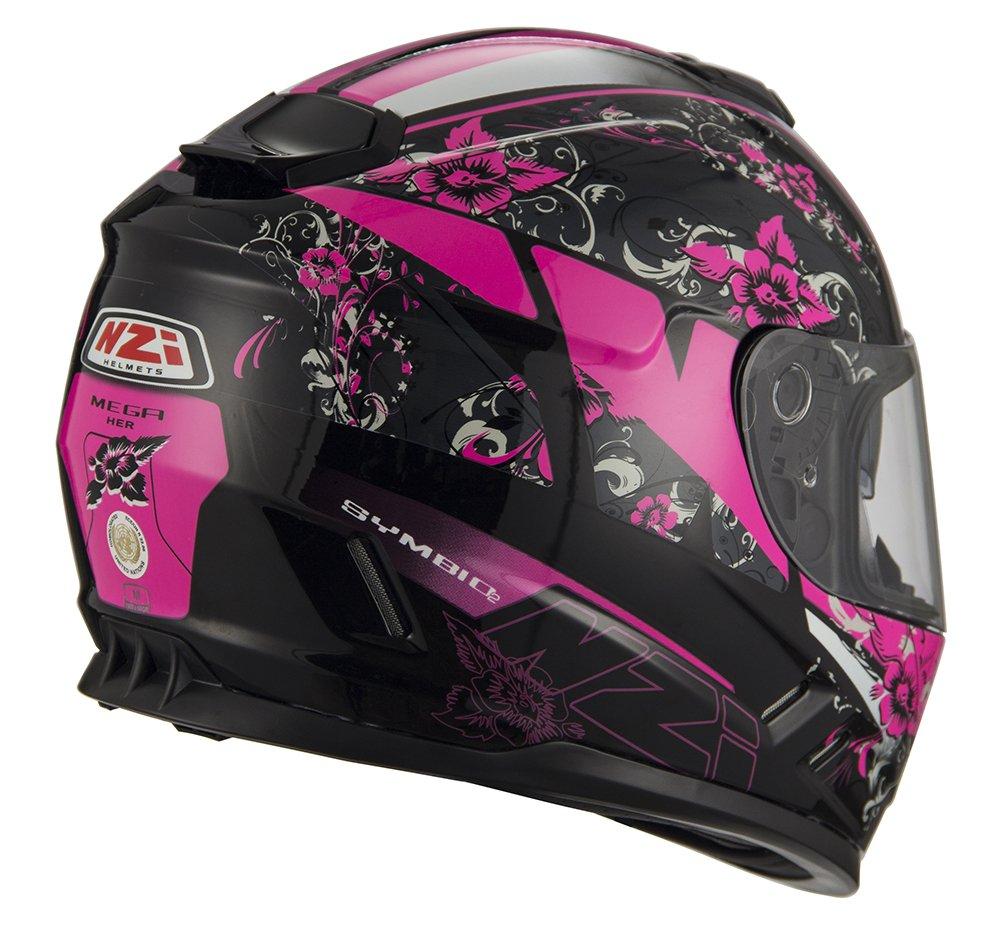 Talla S Mega Her Black Pink NZI Cascos Integrales
