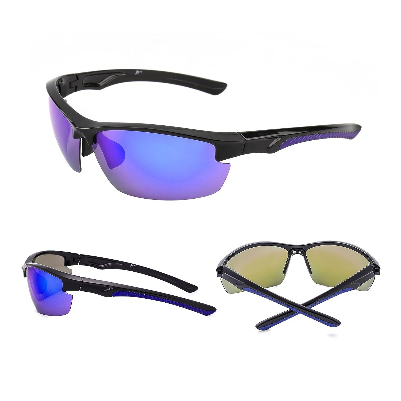 JM Gafas de Sol Deporte Gafas Polarizadas Negro/Polarizado Hombre ...