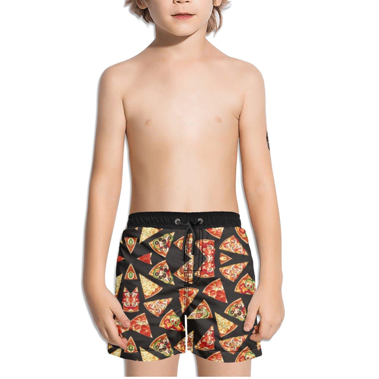 Ouxioaz Boys Swim Trunk Pizza Slices Beach Board Shorts