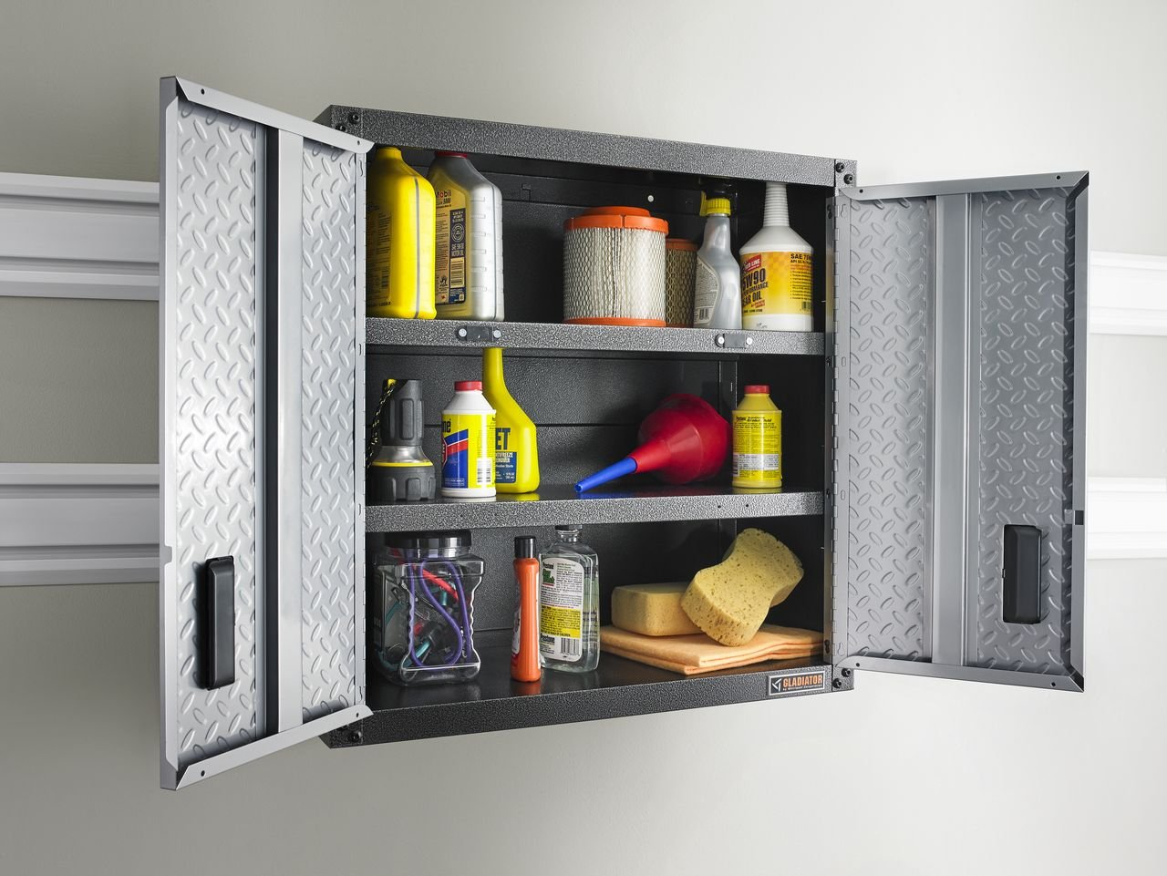 Moreover, This Garage Cabinet Offers Flexible Positioning Due To Its  Compatibility With Gladiator Wall Systems.